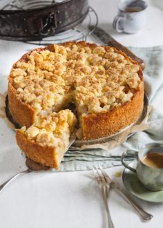 Apfel Streusel Kuchen – Apple Crumble Cake - New ideas Cake Recipes Without Oven, Cake Recipes From Scratch, Easy Cake Recipes, Cupcake Recipes, Dessert Recipes, German Cakes Recipes, Baking Desserts, Apple Crisp Recipes, Ice Cream Recipes