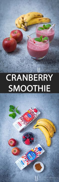 Cranberry Smoothie with Ocean Spray Juice