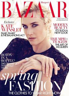 Kate Winslet for Harper's Bazaar UK March 2015 cover