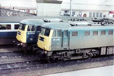 81016 (ex E3018) and 81004 (ex E3005) at Carlisle on 18th March 1981. 81016 was Built at the Birmingham Railway Carriage & Wagon Company and delivered on 23rd March 1961. Withdrawn on 11th July 1983 after being involved in the fatal accident at Linslade Tunnel in Dec 1982. Eventually cut up at Crewe Works on 10th Feb 1985.