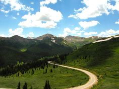 Amazing curves and scenery along the Independence Pass,  Colorado - Motorcycle Roads