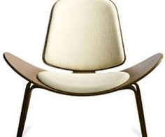 mid century shell chair. perfect form.