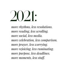 Fresh Start: January 2021