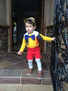 My little pinocchio. Toddler boy Halloween costume #adorable