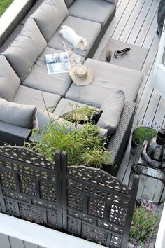 Love this alfresco couch! Can be used as a couch for sitting and chatting with guests or curling up with a good book