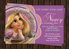 Tangled Rapunzel  Disney Princess Birthday by creativeinvitation, $10.00