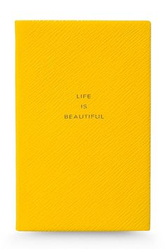 Smythson notebook, $60 | The House of Beccaria~