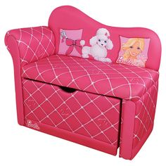 Found it at Wayfair - Barbie Glam Storage Chaise Lounge in Pink
