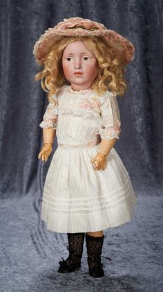 """""""Among Friends, The Billie and Paige Welker Collection"""": 108 German Bisque Brown-Eyed Art Character """"Elise"""", Model 109, by Kammer and Reinhardt"""