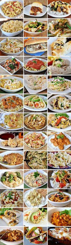 39 Meals to Make in 30-Minutes or less: like skillet lasagna, BBQ chicken pasta, Parmesan chicken nuggets, shredded tacos & more. Handy to have for last minute dinner guests.