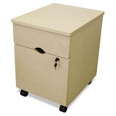 LineaItalia Trento Mobile Pedestal File Cabinet, oatmeal - $157.99