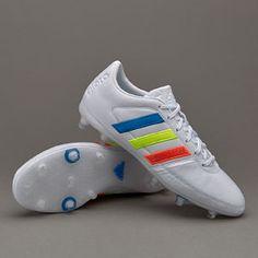online retailer e05d9 4e06f adidas Gloro 16.1 FG - White Solar Yellow Shock Blue Correr, Zapatillas,