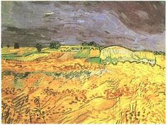 The Fields Vincent van Gogh Painting, Oil on Canvas Auvers-sur-Oise, France: July, 1890