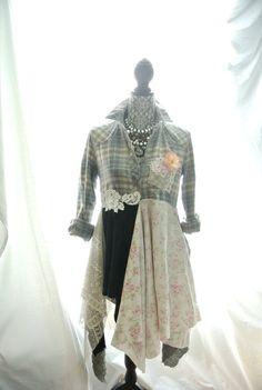 Romantic Lagenlook tunic punk duster fall by TrueRebelClothing, $86.00