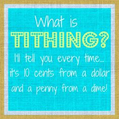 Tithing lesson.