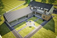 Please check out this example contemporary dwelling in Kilkeel Northern Ireland. Approx 3800 sqft seafront property that was planned as a Change of House Type Interior Design Northern Ireland, House Designs Ireland, Cottage Extension, L Shaped House, Rural House, Bungalow House Design, Modern Farmhouse Exterior, House Layouts, Types Of Houses