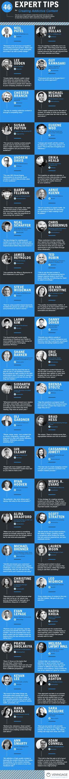 La biblia de cómo hacer marketing de contenidos. 46 tips de expertos.