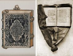 A Girdle Book  Girdle books were popular during the 1400s to 1600s, and were typically religious or devotional works on parchment or paper, bound in leather or an ornate enameled metal case.
