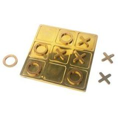 Vintage Brass Tic Tac Toe Game on Chairish.com