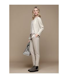 Fabiana Filippi - An Italian History - Made in Umbria - Top & Cardigan & Pants & #Bag & Ankle #Boots