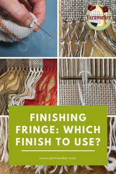 New Totally Free weaving patterns loom Popular When to Use Which Finish – Yarnworker – Know-how for the rigid heddle loom Weaving Loom Diy, Paper Weaving, Weaving Art, Weaving Patterns, Tapestry Weaving, Weaving Textiles, Hand Weaving, Loom Weaving Projects, Weaving Designs