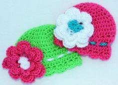 Crochet Beanie with Flower