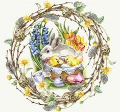 Hoppy Easter, Easter Bunny, Easter Eggs, Easter Projects, Easter Crafts, Easter Backgrounds, Easter Greeting Cards, Old Cards, Diy Ostern