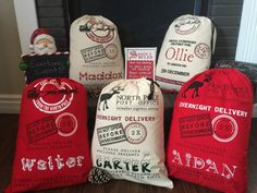 Personalized Santa bag Santa sack Christmas bag by EverlongEvents