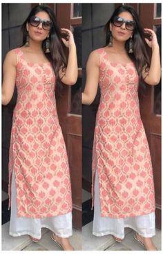 Silk Kurti Designs, Simple Kurta Designs, Kurta Designs Women, Kurti Designs Party Wear, Latest Kurti Designs, Kurti Back Neck Designs, Punjabi Suit Neck Designs, Long Dress Design, Dress Neck Designs