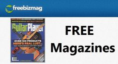 While supplies last, you can get a FREE subscription to Guitar Player magazine from FreeBizMag. This is a magazine for serious guitarists and whether that's you or someone in your home, who would enjoy this …