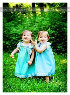 Identical girl twins
