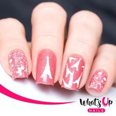 Whats Up Nails - Eiffel Tower Stickers & Stencils from WhatsUpNails.com @whatsupnails