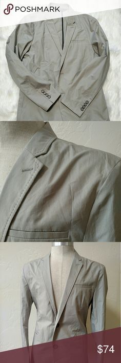 Zara Man light sport coat 40 Used but great condition light weight sport coat from Zara Man.  Light tan color, light feel, awesome item!  It is wrinkled, but we'll come out no prob. Zara Suits & Blazers Sport Coats & Blazers