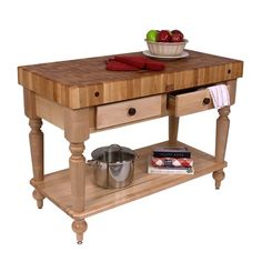 John Boos American Heritage Rustica Butcher Block Table. idk why but i love these
