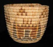 Early Native American Hopi Figural Basket w/Kachinas & Dogs! Pre-1920's