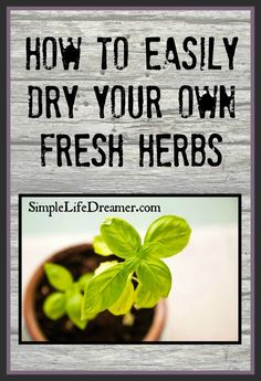 Drying your own fresh herbs is super easy!  All you need is your oven, a salad spinner (optional)  and a cookie sheet!