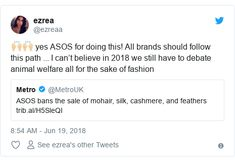 Asos to ban silk, cashmere and mohair from its website - BBC News Fair Isle Knitting, Cardigans, Sweaters, Animal Welfare, Fashion Fabric, Bbc News, Knitting Patterns, Cashmere, Scarves