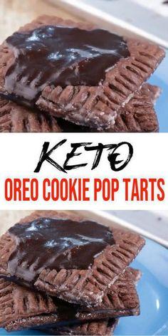 Chocolate Pop Tarts, Homemade Chocolate, Chocolate Oreo, Healthy Low Carb Recipes, Low Carb Keto, Keto Recipes, Low Carb Sweets, Low Carb Desserts, Delicious Desserts