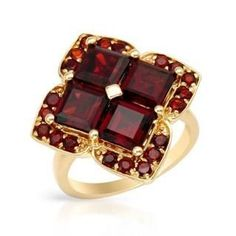 @Overstock - Ring with 6.00ct TW Genuine Garnets in Yellow Gold - Dazzling Ring With 6.00ct TW Genuine Garnets Made in Yellow Gold. Total item weight: 7.3g -  http://www.overstock.com/Jewelry-Watches/Ring-with-6.00ct-TW-Genuine-Garnets-in-Yellow-Gold/9340360/product.html?CID=214117 $400.74