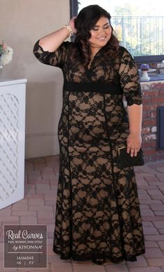 Real Curves for Screen Siren Lace Gown