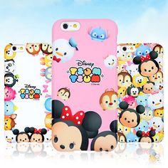 Authentic Disney Tsum Tsum Hard Case iPhone 6 Case iPhone 6 Plus Case 5 Types #Disney