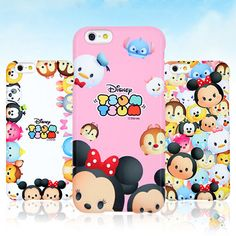 Authentic Disney Tsum Tsum Hard Case iPhone 6 Case iPhone 6 Plus Case 5 Types #Disney