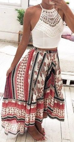 Idée et inspiration look d'été tendance 2017   Image   Description   36 Boho Style Ideas To Set Amazing Fashion Trends This Summer
