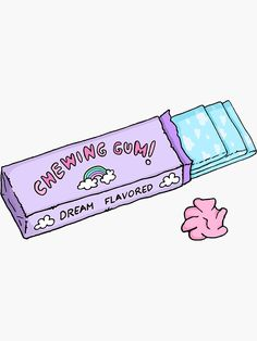 """This design is a hand-drawn gum's box inspired in the debut of NCT DREAM with """"Chewing gum"""". It has soft and pastel colors and is really cute. Kawaii Wallpaper, Wallpaper Iphone Cute, Cartoon Wallpaper, Cute Wallpapers, Aesthetic Iphone Wallpaper, Cute Food Wallpaper, Cute Food Drawings, Cute Kawaii Drawings, Chibi Kawaii"""