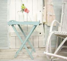 Beistelltische - Shabby Tablett-Tisch - ein Designerstück von Haus-und-Hof-Gestaltung bei DaWanda