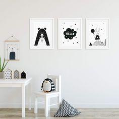 AFFILIATELINK | Frechdax® 3er Set Kinderzimmer Babyzimmer Poster DIN A4  Ohne Skandinavisch, Design