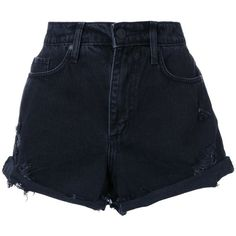 Nobody Denim Skyline Short Abyss (470 BRL) ❤ liked on Polyvore featuring shorts, bottoms, pants, short, black, short shorts, high-waisted shorts, high waisted short shorts, high waisted cotton shorts and highwaist shorts