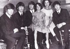 The Beatles backstage at the Cow Palace with Shirley Temple Black and her daughter (1964).Music in 1964 Six months after taking the East Coast by storm, the Beatles traveled to California to play at the Cow Palace in San Francisco. It was the opening night of their first concert tour of North America.