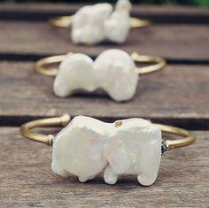 Pearl Pyrite Cuff Bracelet Wire Wrapped 14 K by AnaberJewelry