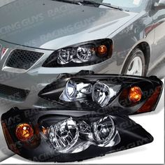 05 06 07 08 09 10 Pontiac G6 Black Headlight Headlights Embly Pair L R Set
